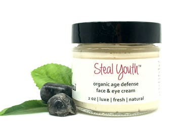 Steal Youth™ Organic Age Defense Face Cream | Best Wrinkle Face Cream | Hyaluronic Acid | Puffy Eyes | Golden Globes Celebrity Gift Lounge