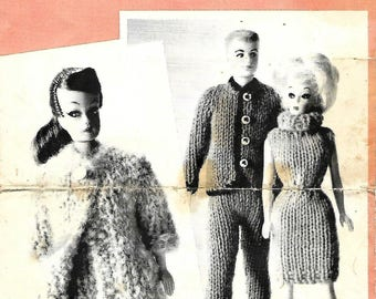Vintage Beehive #2032 Handknits for Dolls in Molana and Canadiana for Barbie & Ken type dolls rare