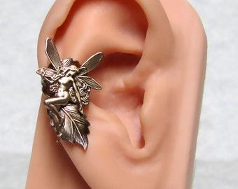 Fairy Tale Nymph Leaf Ear Cuff ' right ear '