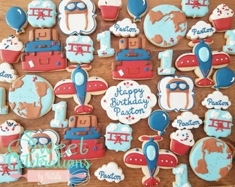 Vintage Airplane Cookies