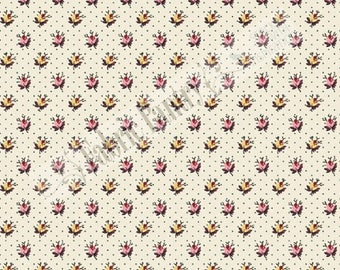 MACIE'S JOURNAL - Quilt Fabric - Civil War Reproduction by Judie Rothermel - Marcus Brothers -  Rosebuds (R33-2360-135) ~ By The 1/2 Yard