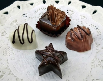 Set of 4 Assorted Fake Chocolates