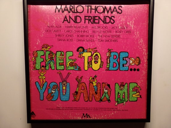 Glittered Record Album - Free To Be You And Me - Marlo Thomas and Friends