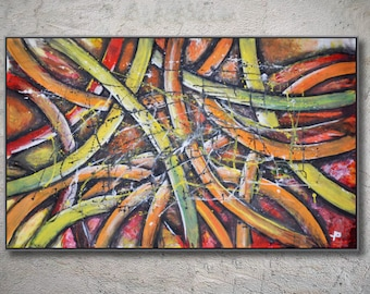 modern abstract painting, large abstract art