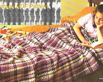 Crochet Pattern - Crochet Blanket, Afghan PDF Pattern - 2291 -132 - Instant Download
