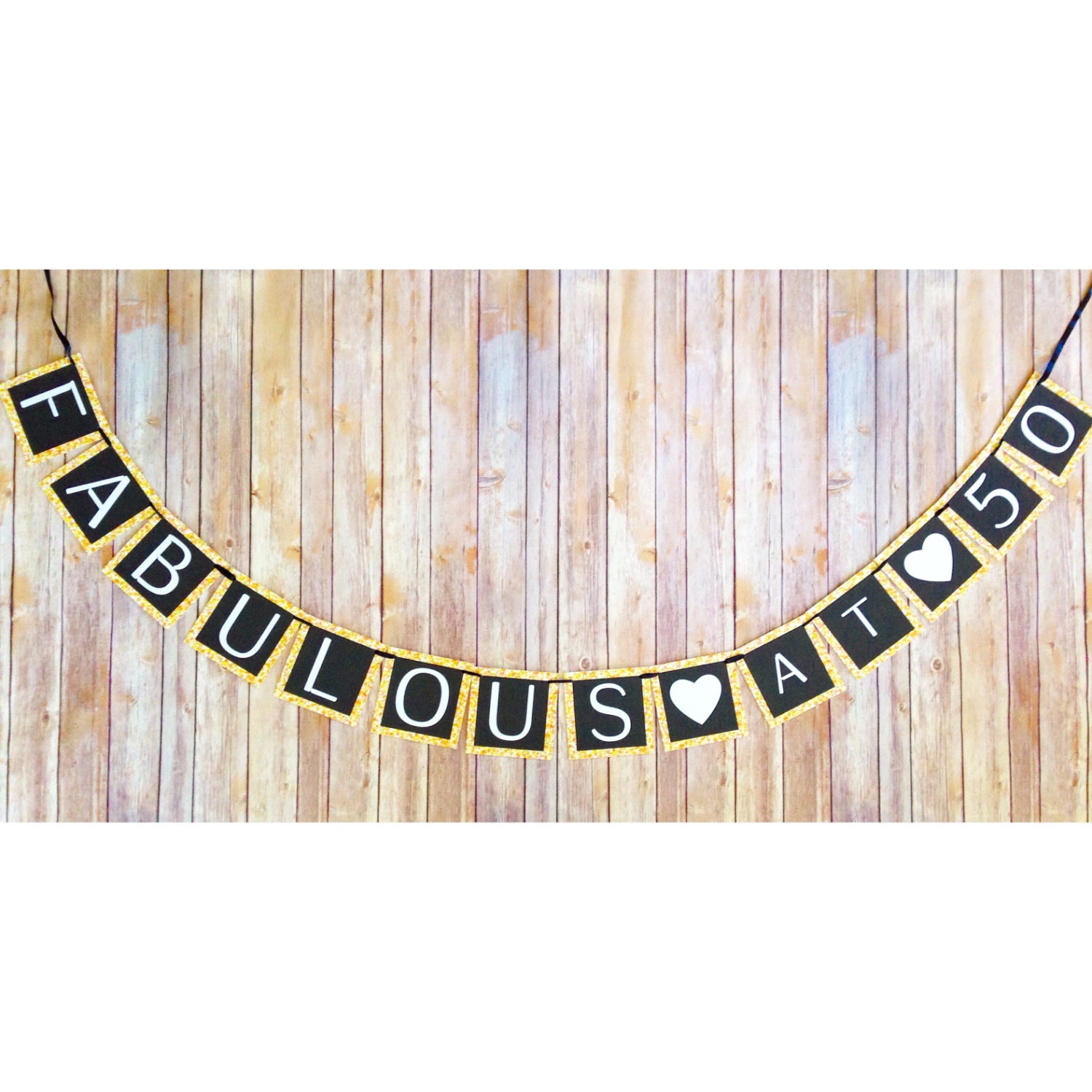 printable 50th birthday banner digital fabulous at 50