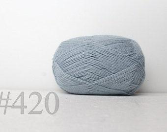 WOOL yarn 100%-knitting yarn -  light blue #420