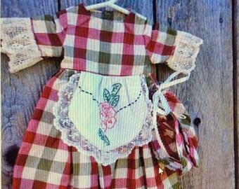 Heirloom Doll Dress and Bonnet