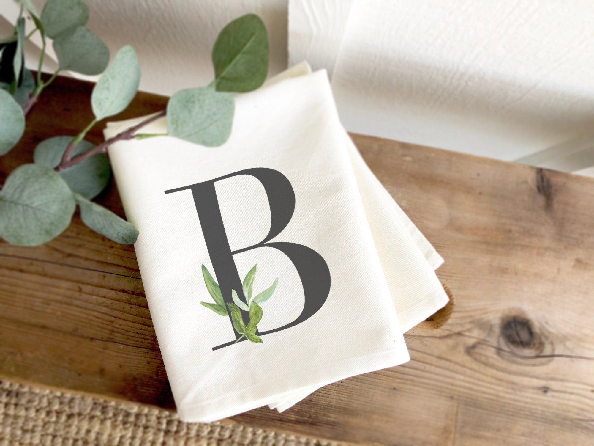 Monogram Tea Towel Monogrammed Tea Towel Anniversary Gift