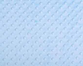 Sky Blue Dimple Minky From Shannon Fabrics - Choose Your Cut