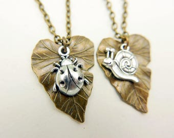 Snail ladybug beetle insect Necklace