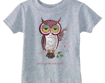 baby clothes - baby gift - toddler shirt - toddler tshirt - baby owl - toddler owl costume - childrens clothing-YOURE GETTING SLEEPY-t shirt