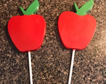 Chocolate Apple Lollipops