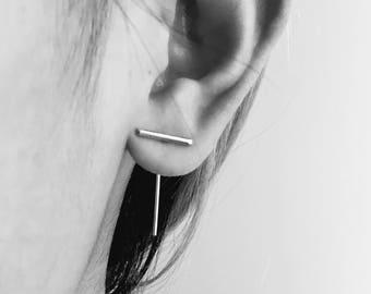 T bar earrings