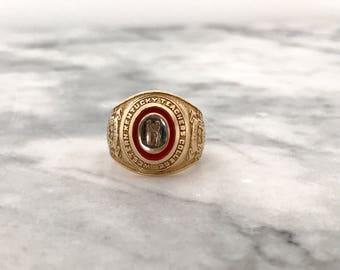 Antique Class Ring | 1906 Western Kentucky College Ring | WKU Memorabilia | Edwardian Era Antique Jewelry | 10k Gold Pinky Ring | Size 5
