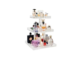 3 Tier Perfume Tray, Perfume Organizer, Perfume Holder, Makeup Organizer, Acrylic Makeup Organizer