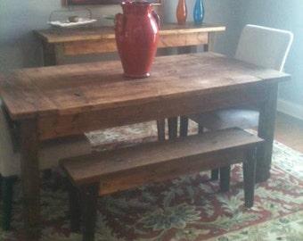 Custom Built Dining Table & Bench