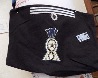 Black cotton pouch
