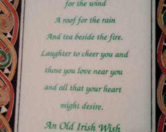 An Old Irish Wish Plaque Wall Hanging