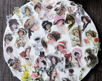 58 pcs  Downton Abbey Transparent stickers
