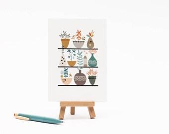Fauna & Succulents -  Card