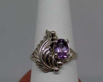 Amethyst Ring, Under 75, Sterling Silver Amethyst Ring, Birthstone Jewelry, 925,  February Birthstone, Ladies Amethyst Ring, 1238