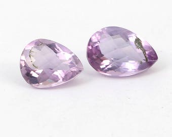 40% Off Natural Faceted Amethyst Gemstone An Amazing AAA++ High Quality & Good Colour ,Smoth Polished,Checker cut Amethyst Stone Code AZ314