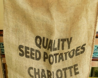 A Hessian Potato Sack, Ideal for Rag Rugging or Simply Storage