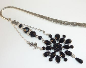 "Large bookmark jewel ""Black Sun of India"""