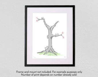 Tree of Cats - Limited Edition - A3 fine art giclée print