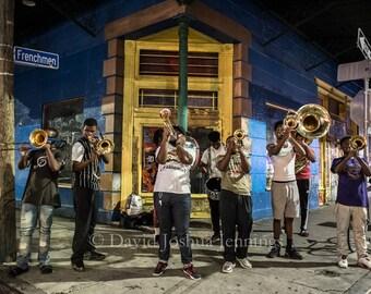 Frenchmen Street - New Orleans 2016 - Fine Art Photograph - Street Photography - Marigny - Fine Art Print - Jazz - Music - brass band