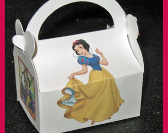 Disney snow white party favor box, snow white and prince charming birthday favor box, snow white birthday favor box