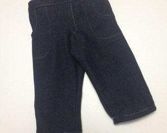 Boy doll jeans fit American girl/boy doll clothes black denim jeans for 18 inch dolls