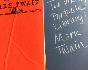Vintage Book | 1950s Mid-Century | The Portable Mark Twain | Viking Portable Library | Huck Finn | Book Lover, Bibliophile, Literary