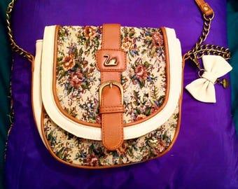 Vintage Yumi Bag with Floral Design.