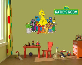 Delicieux Sesame Street Wall Decal Stickers, Bedroom Wall Murals, Sesame Street Wall  Mural,Nursery Wall Designs,Murals,Muppets, Big Bird,Elmo,PBS Kids