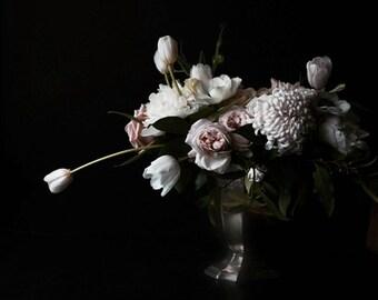 Large Scale Flower Dark Floral Modern Flower Photography Large Scale Fine Art Photography