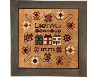 Libertyville, 1776 - cross stitch pattern - PDF digital download