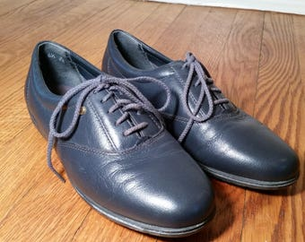 granny shoes leather oxfords, vintage granny shoe hipster shoes, black leather shoes womens oxfords 6