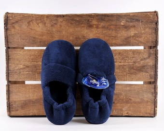 SnugToes Men's Heated Slippers with Removeable Heat Pads