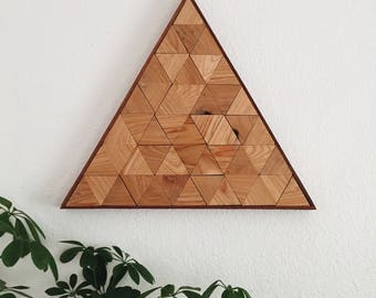 Triangle 002 | Reclaimed Wood Wall Art | Geometric Wall Art | Home Decor | Woodworking | Boho Style Wall Art | Lath Art | Lath Woodworking