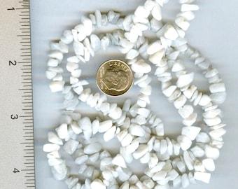 """Gorgeous Genuine Snow Quartz Chip Beads Full 34"""""""