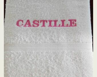Bath towel embroidered name 50 * 70