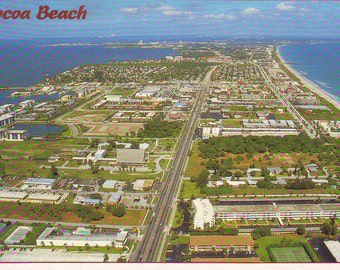 Vintage Cocoa Beach, Florida. Stamped Post Card. 1992