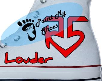 Band shoes, Custom shoes, converse, Hand painted shoes, R5 Converse, free shipping in the US