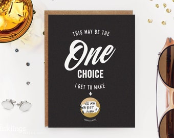 6 Scratch-off Groomsman and Best Man Cards // Be My Groomsman Card, Be My Usher Card, Be My Best Man Card, Be My Ring Bearer  // One Choice