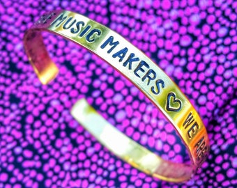 Music Makers, Dreamers of Dreams quote bracelet