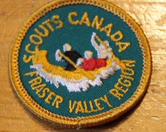 Vintage Scouts Canada Fraser Valley Region Sew On Patch !