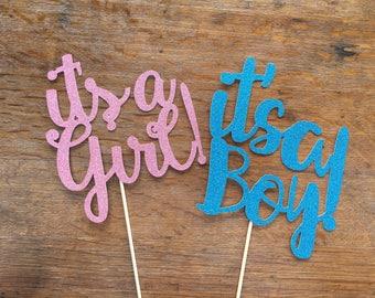 its a boy/girl! Cake topper