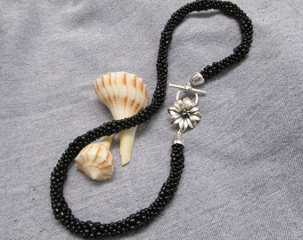 Black Orchid Kumihimo Necklace